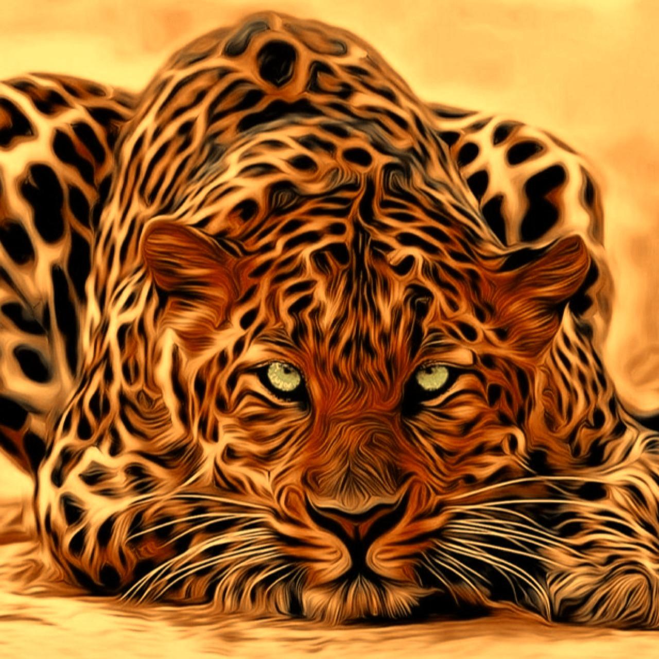 Блестящая картинка тигра 7